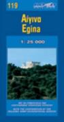 Map of Aegina Island