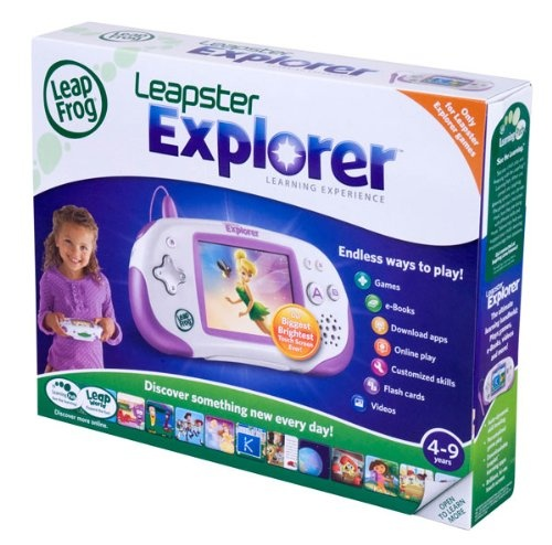 LeapFrog-Leapster-Explorer-Learning-Game-System-Green-Shipping-is-Free