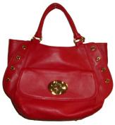 Women's Large Emma Fox Genuine Leather Studded Satchel Handbag
