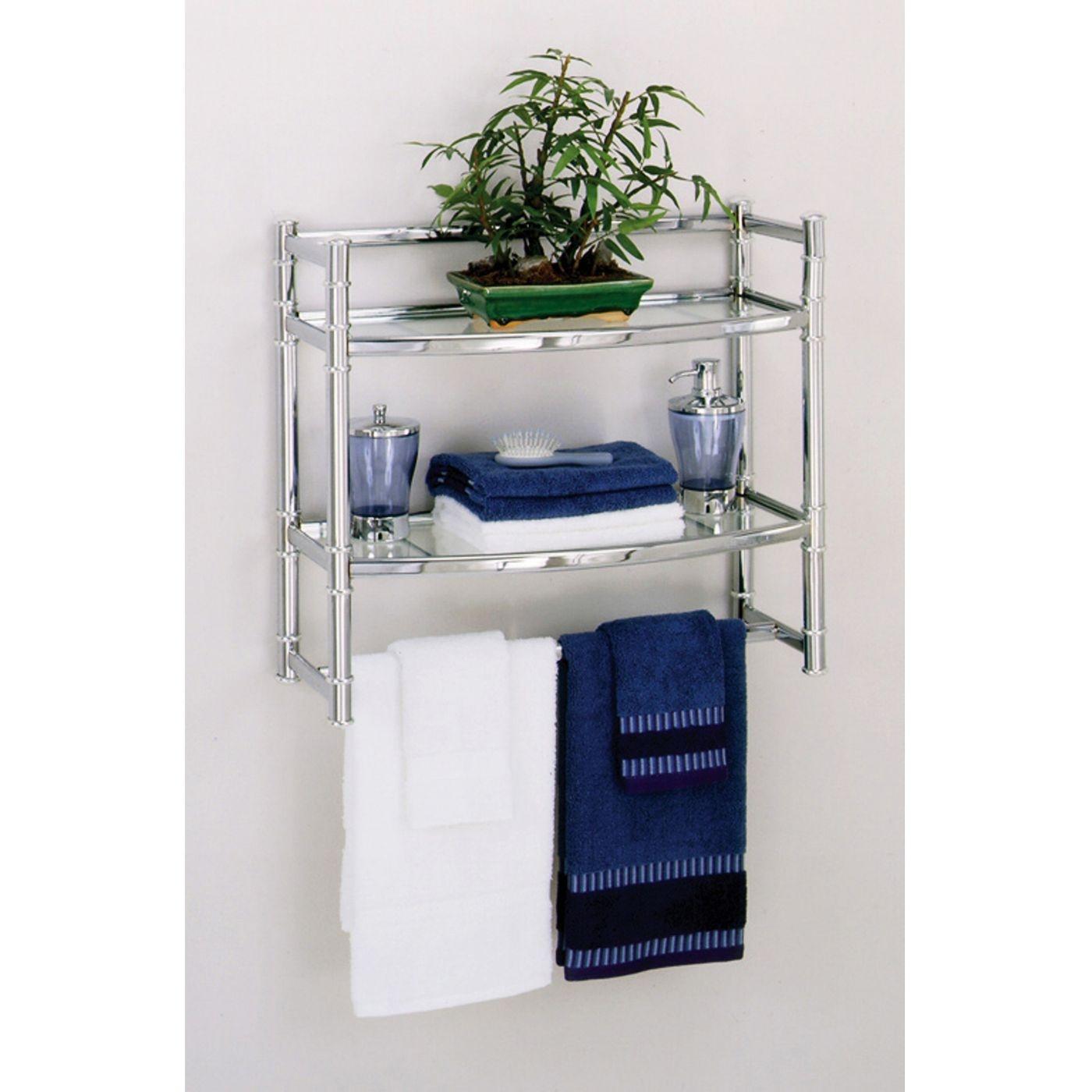 Zenith Wall Shelf With 2 Glass Shelves Chrome Finish 11street Malaysia Bathroom Storage