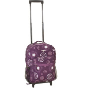 Rockland Luggage Roadster 43cm Rolling Backpack, Purple Pearl