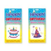 Assorted Happy Birthday Glitter Tattoos