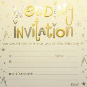 Jean Barrington Wedding Invitations - Gold & Silver