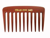 Pocket Size Designer Mater Heat-Resistant Bone Comb #2463