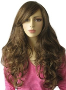 Annabelle's Wigs An Extra Long, Chestnut Brown Wig With Blonde Highlights