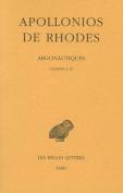 Apollonios de Rhodes, Argonautiques Tome I