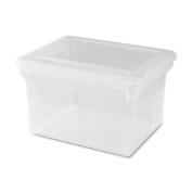 Lorell LLR68925 File Box, Legal-Letter, Stackable, 14. 60cm x 46cm x 28cm , Clear