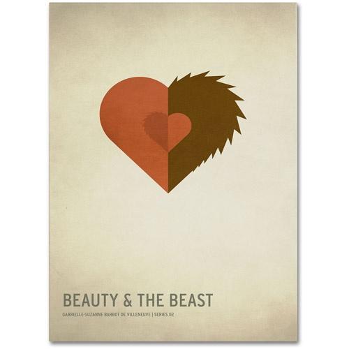 Trademark-Fine-Art-034-Beauty-and-the-Beast-034-Canvas-Art-by-Christian-Jackson-Free