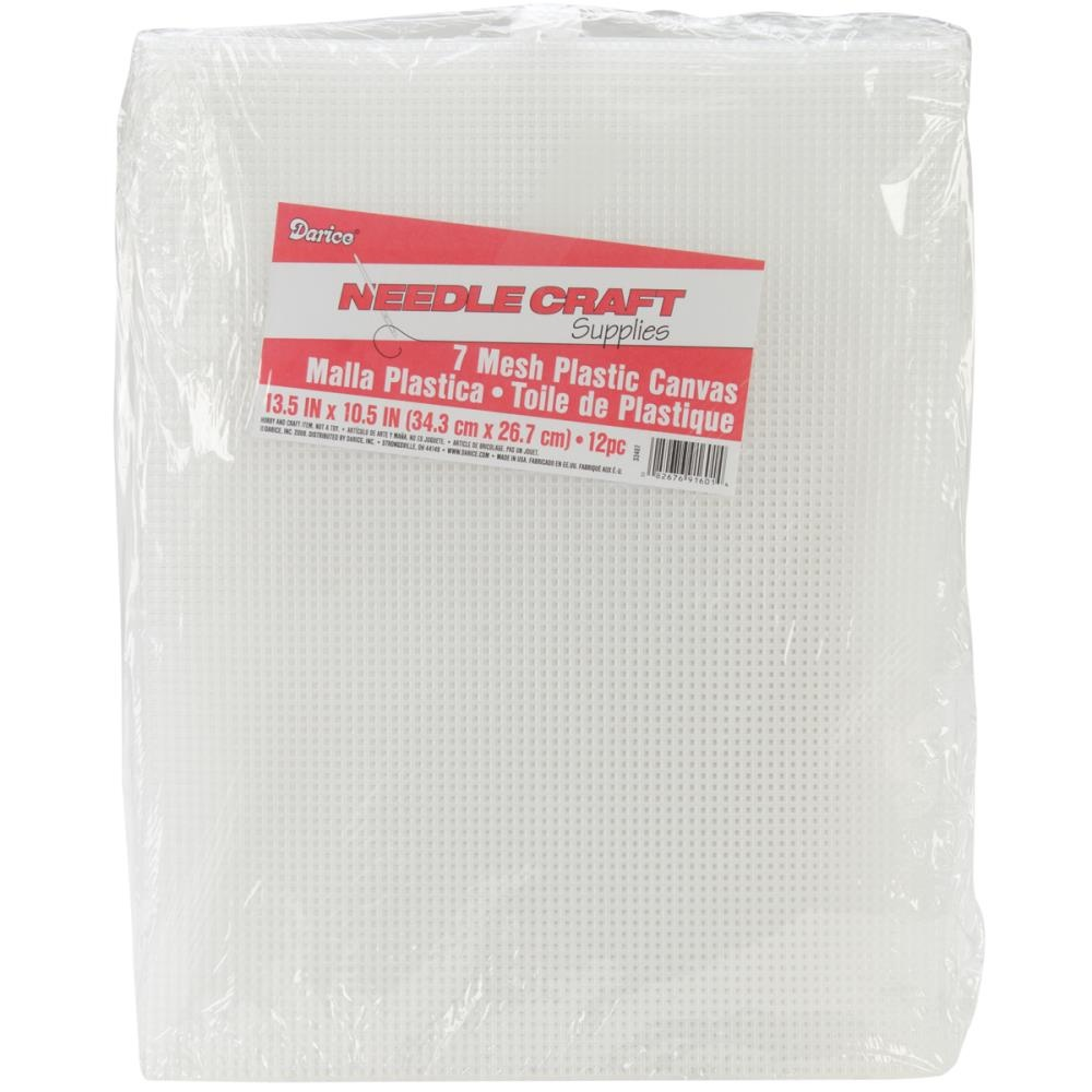 Plastic canvas 7 count 10 1 2 x13 1 2 value pack clear for Craft plastic sheets walmart