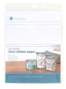 Silhouette Printable Sticker Paper, 22cm x 28cm , 8/pkg