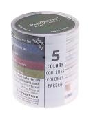 PanPastel 9-Millilitre Ultra Soft Artist Pastel Set, Extra Dark Shades, 5-Pack