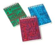 Mini Circuit Board Notebook - Red