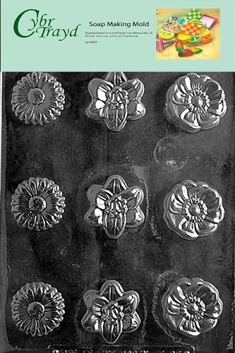 Cybrtrayd Flower Soap Assorted Soap Mould. Free Delivery