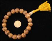 ~ Tibetan Mantra Bodhi Seed 18 Beads Wrist Mala ~