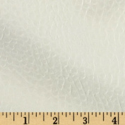 Faux Leather Boca White Fabric