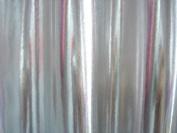 Silver Metallic Stretch Spandex Fabric 150cm By the Yard