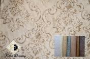 Fantastic Sheer Palazzo Medallion Fabric, Colour Cream, 140cm , Content