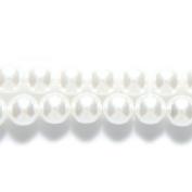 Preciosa Ornela Imitation Round Glass Pearl, 7-mm, White, 120-Pack