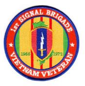 1st Signal Brigade Vietnam Veteran Patch
