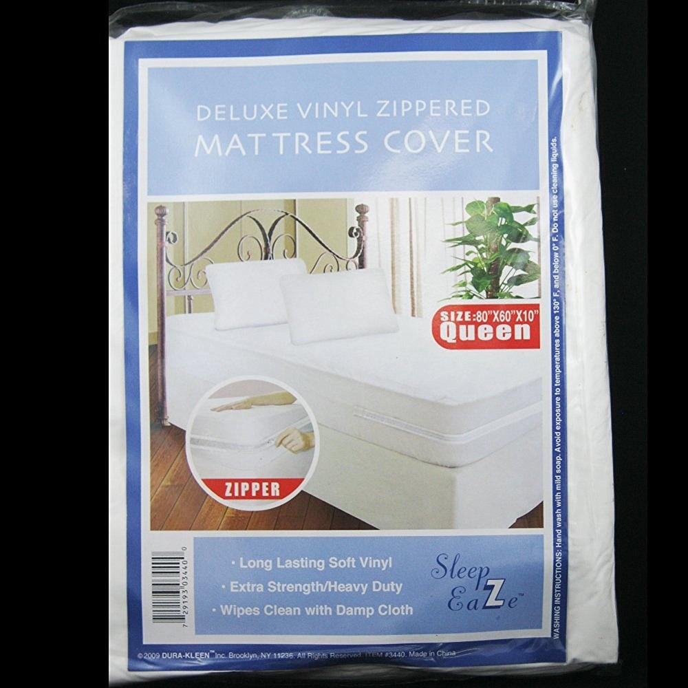 Queen Size Vinyl Zippered Mattress Cover Protector Allergy