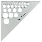 25cm Aluminium Triangle 45/90
