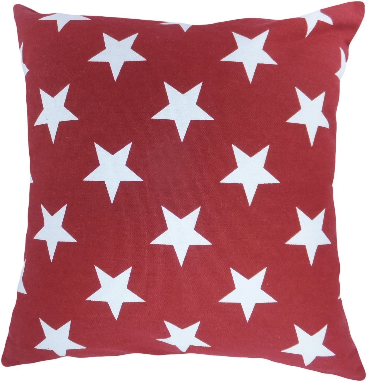Decorative Printed Star Floral Throw Pillow Cover 46cm Burgundy 11street Malaysia - Pillows ...