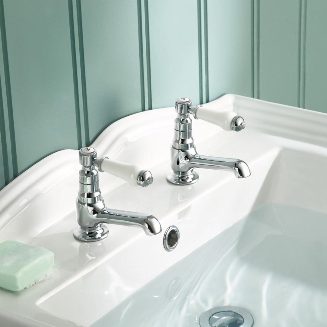 Traditional Twin Basin Sink Hot And Cold Taps Pair Chrome Bathroom Faucet Tb134 11street