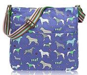 Blue Dachshund Sausage Dog Canvas Ladies Messenger Fashion Bag Handbag
