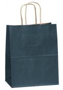 "20cm x 12cm x 10"" - 100 Pcs - Navy Blue Kraft Paper Bags, Shopping, Mechandise, Party, Gift Bags"