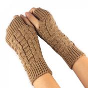 JOVANA New Women Ladies Winter Warm Knitted Fingerless Gloves Hand Wrist Warmer Mitten