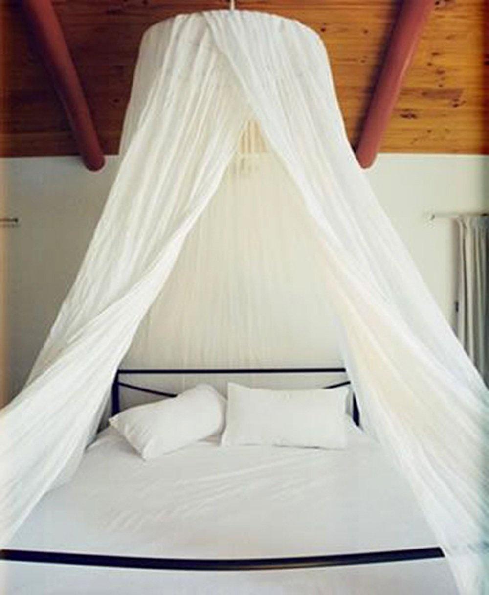 Dreamma Eletgant White Round Bed Canopy Mosquito Net