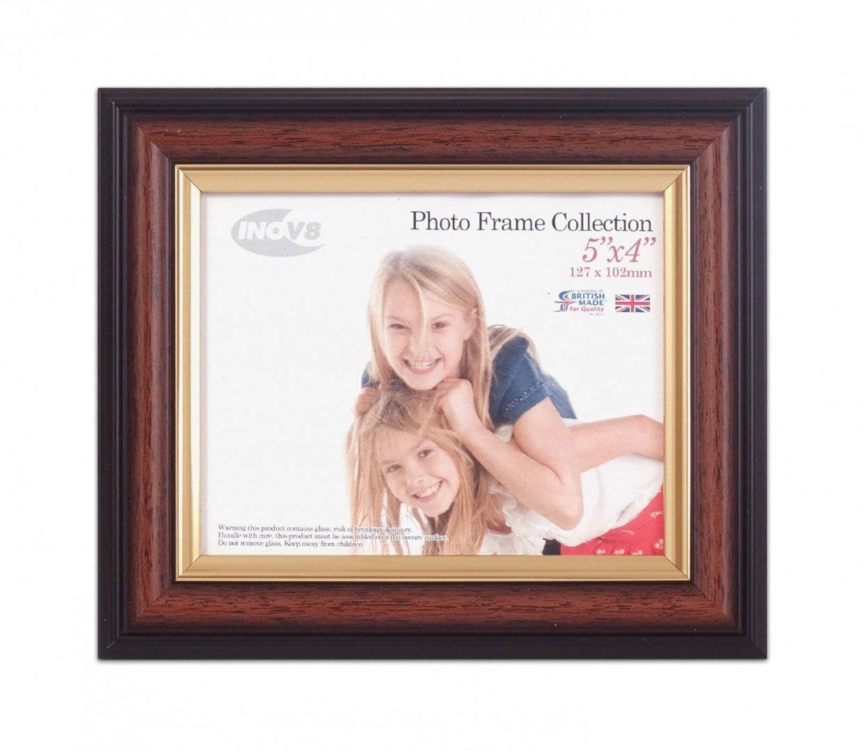 Inov8-British-Made-Traditional-Picture-Photo-Frame-25cm-x-20cm-Teak-580-Ship