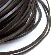 2x3mm Genuine Leather Cord Black Natural 5m String - for Necklace Bracelet