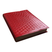 Sitara Collections SC13000 Genuine Leather Embossed Journal, Red