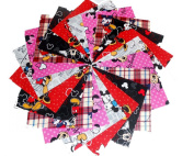 40 13cm Mickey/Minnie Mouse quilting squares Charm Pack #2