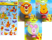 Winnie The Pooh Children's Night Lights Gift Set Of 4 With Stickers