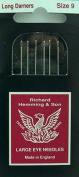 Richard Hemming Long Darners Sewing Needles Pkg of 5