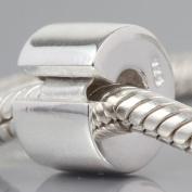 925 Sterling Silver Charm Jewellery Clip Lock Stopper Bead Fit Pandora Bracelet