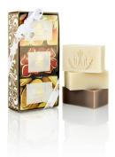 Malie Organics Luxe Cream Soap Trio - Coconut Vanilla, Mango Nectar, Hibiscus