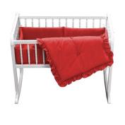 bkb Primary Cradle Bedding, Red, 38cm x 80cm
