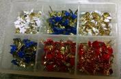 300pc Mini Brads 4th of July Embellishment Kit