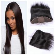 Derun Hair Best Quality 100% Virgin Brazilian Human Hair Silky Straight 41cm 13*4 Natural Colour ear to ear silk base lace Frontal Closure