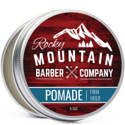 Pomade for Men - Classic Hair Styling Tool Product - 150ml Tub with Strong Firm Hold for Side Part, Pompadour & Slick Back Looks - Medium Shine & Easy to Wash Out - Water Based