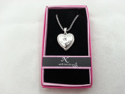 "Hallmark Love Locket Necklace with 41cm - 46cm Adjustable Chain - Letter ""N"""