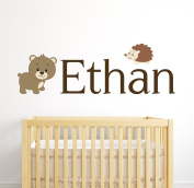 Bear Custom Name Wall Decal - Baby Room Decoration - Nursery Wall Decals - Bear Decor Vinyl Sticker