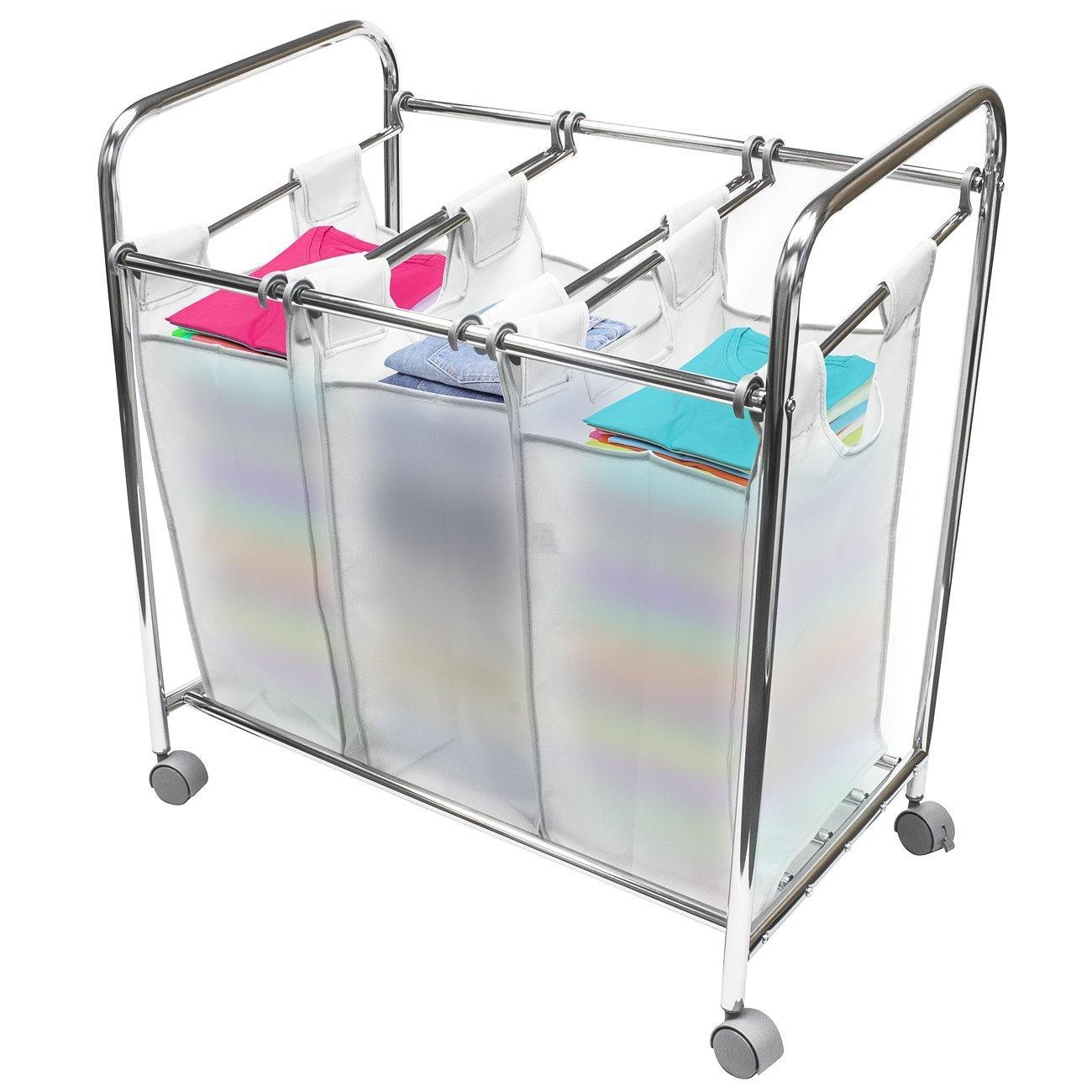 Sorbus Laundry Sorter Cart Basket Hamper On Wheels