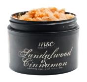 MSC Skin Care and Home Handmade Exfoliating Sugar Body Scrub, Sandalwood and Cinnamon