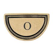 First Impression A1HC Engineered Anti Shred Finlay Half Round, Coir Doormat-Monogrammed O, 80cm L x 120cm W
