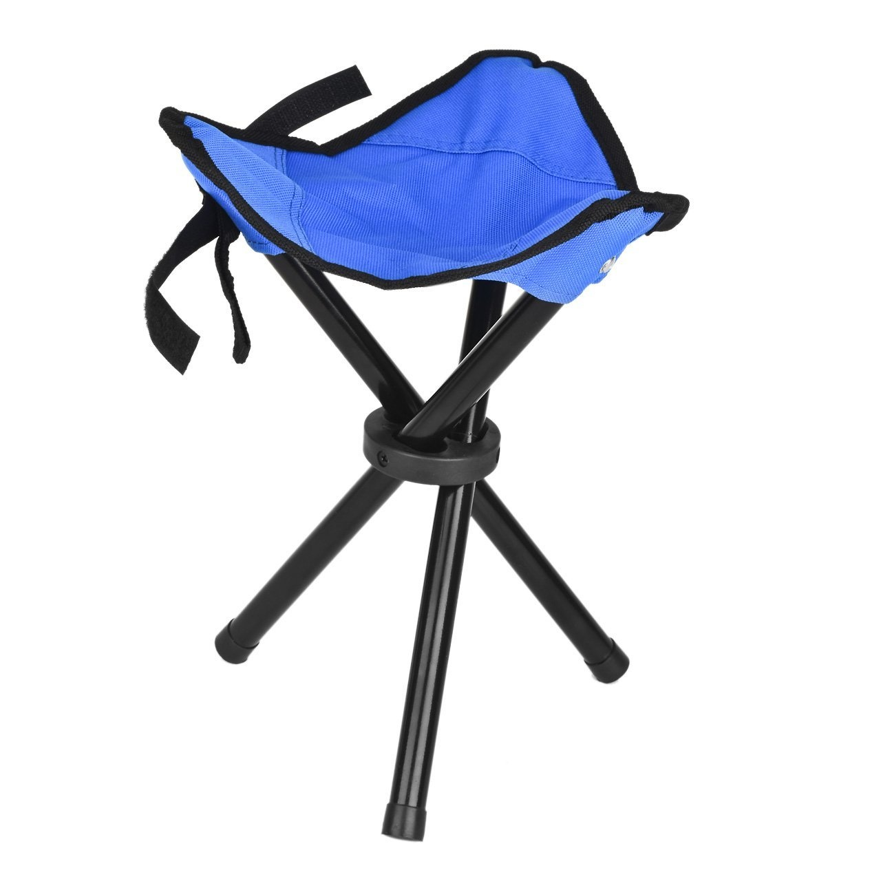 Eyourlife Foldable Stool Slacker Chair Tri Legged Portable