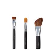 VEGAN LOVE Flat Shader Ultimate Concealer Brush Trio, Angled Face